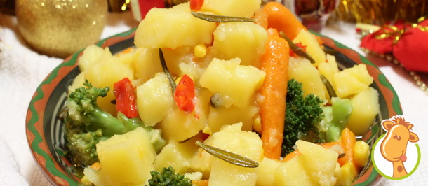Рагу из овощей – горячее в новогоднем меню
