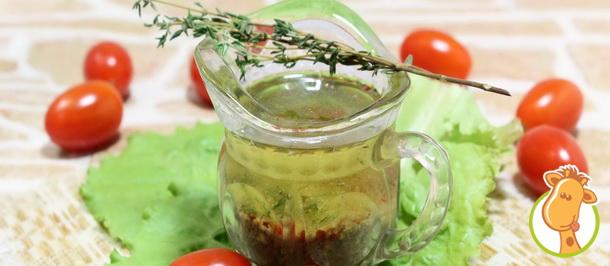 Новогодний соус: заправка из растительного масла