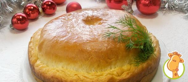 Рецепт пирога с грибами и зеленью