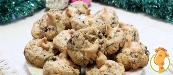 Печенье с орехами и шоколадом для новогоднего чаепития
