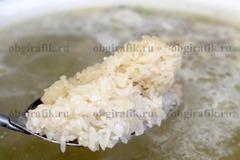 6. Следом – промытый рис.