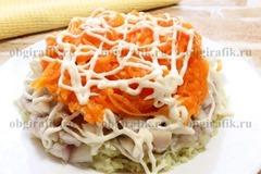 5. Натертая морковь и майонез.